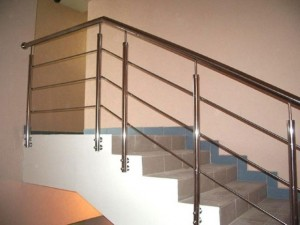 Лестничный ограждения из нержавеющей стали с 3 ригелями